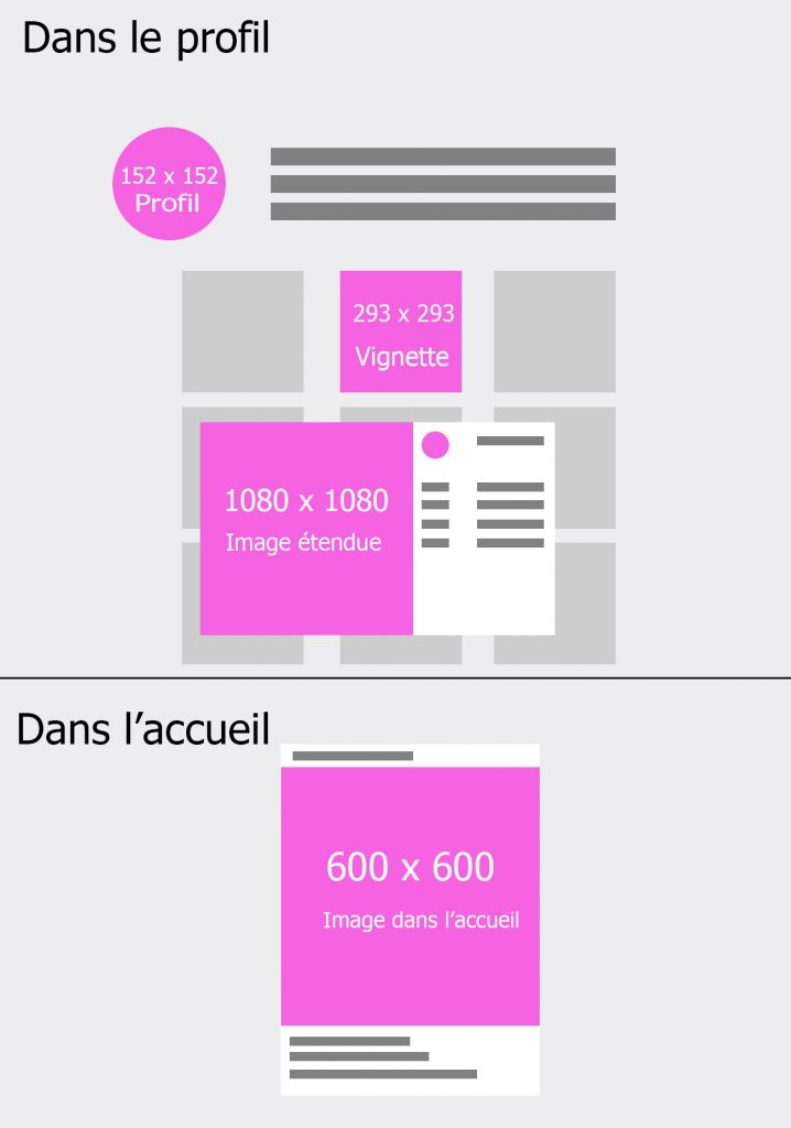 taille d'images instagram